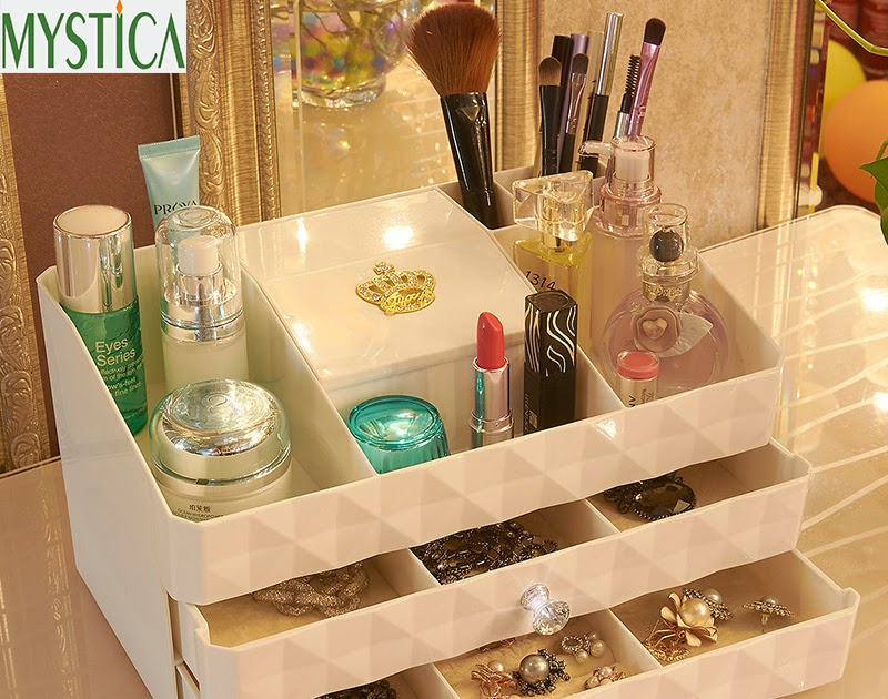 Buy NEW MYSTICA ABS Three layer Plastic Makeup Drawers