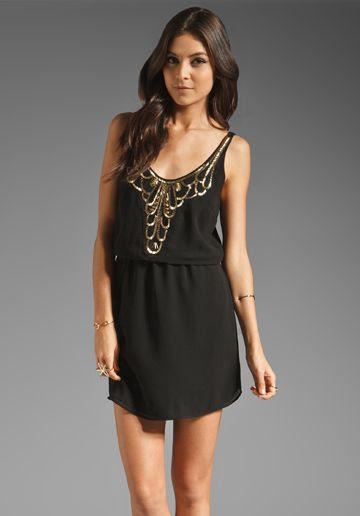 EIGHT SIXTY Art Deco Dress in Black