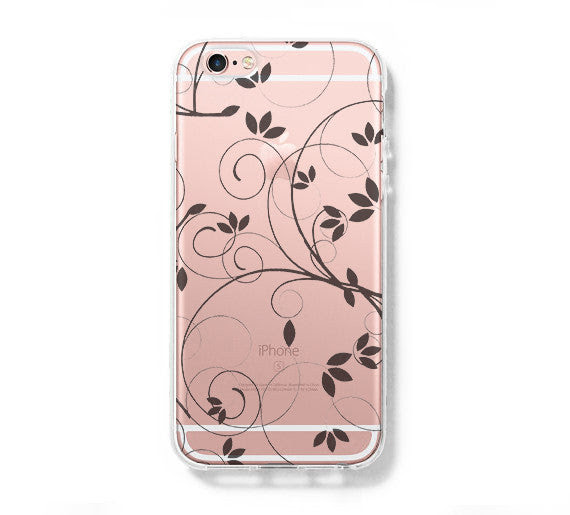 Floral Pattern Iphone 6 Case Clear Hard Iphone 6s Plus Case Galaxy
