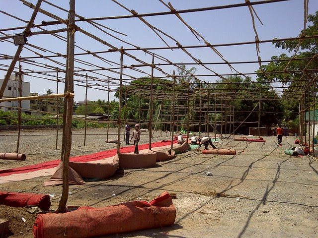 Remains of the launch event - Visit Dreams Avani, 1 BHK & 2 BHK Flats on Shewalewadi Road, near Manjri Stud Farm, off Pune Solapur Highway, at Manjri Budruk Pune, 412 307