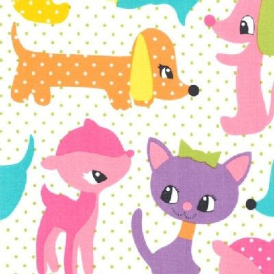 Michael Miller Fabrics - Kids - Plush puppy in Girl - 8.25