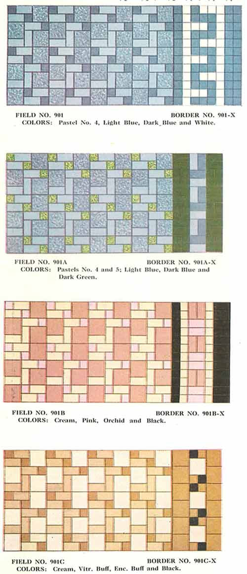 112 patterns of mosaic floor tile -- in amazing colors ...