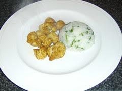 Biryani Spiced Turkey with Garlic and Herb Rice