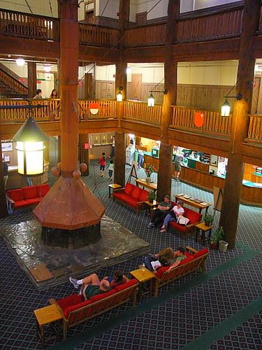 IMG_3765 Lobby of Many Glacier Hotel
