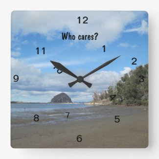 "Square ""Who Cares?"" Wall Clock"