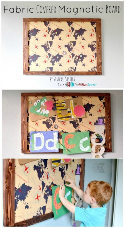 Fabric Covered Magnetic Board The Ribbon Retreat Blog