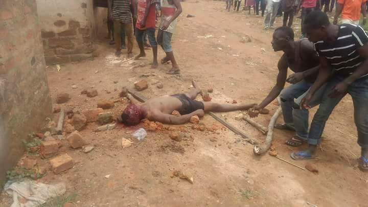 2 Men Stoned To Death In Benue For Stealing Motorcycles (Graphic Photos)