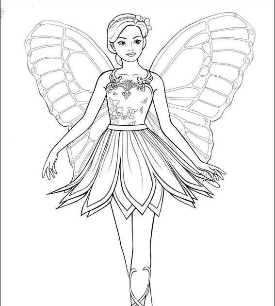 Kleid Ausmalbilder Barbie