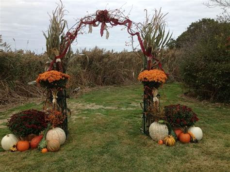 Arch i decorated for a pretty fall wedding   Flower