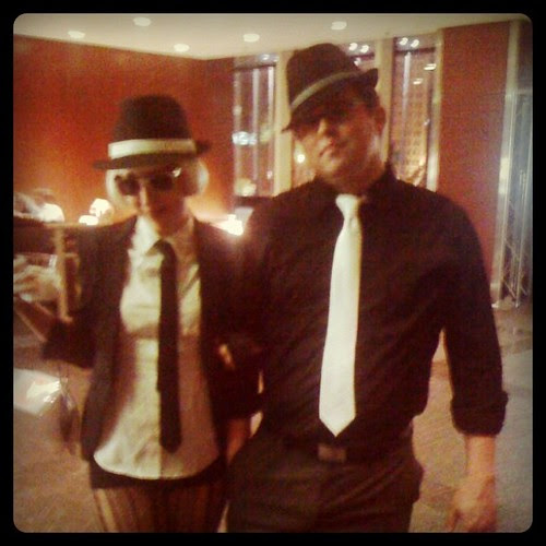 Nate and I were lookin' mighty fly at that #howlive party.