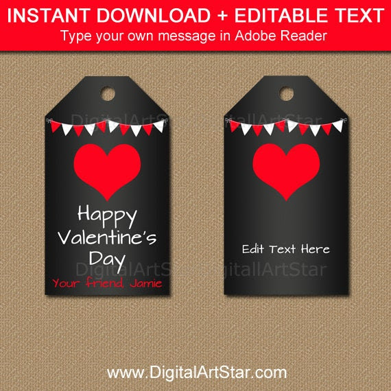 Valentines Day Tags Valentine