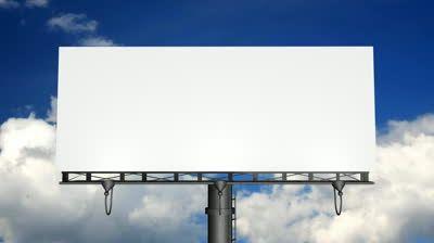 Blank Billboard – March 2017 Calendar