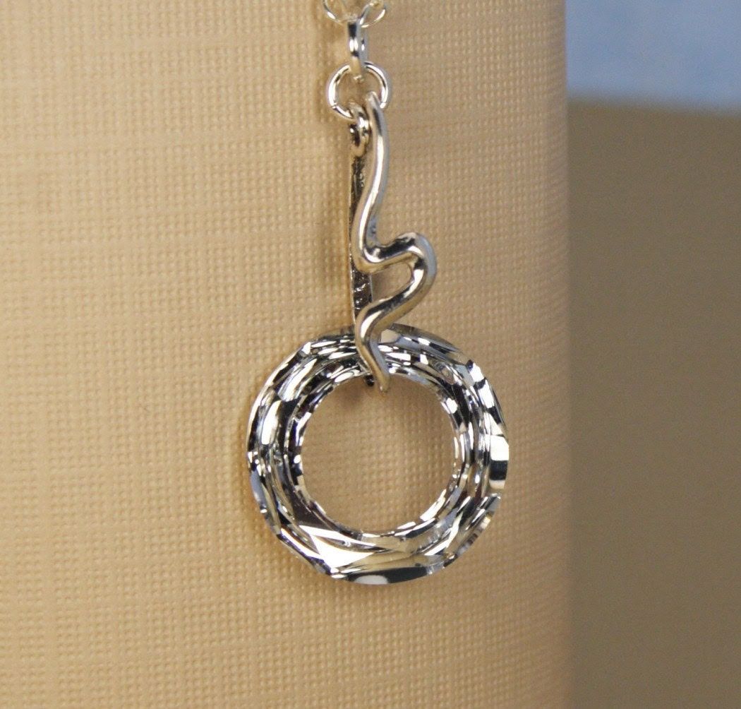 Circle of Love Crystal Silver Necklace