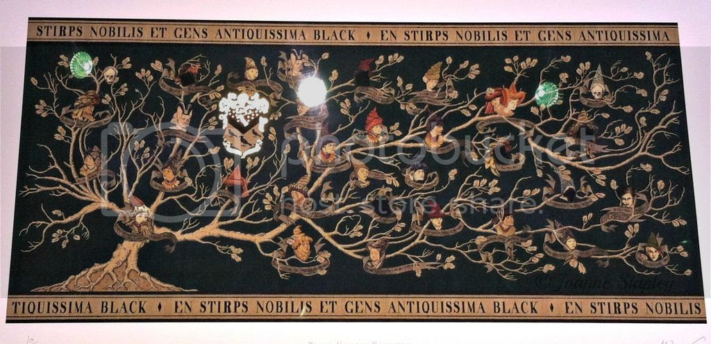 Print of the Black Family Tree tapestry - The House of MinaLima