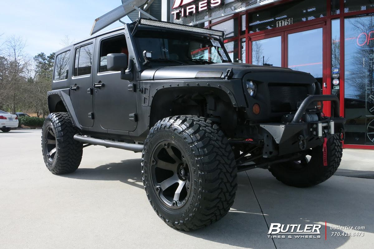 Jeep Wrangler Custom Wheels Fuel Beast 20x Et Tire Size