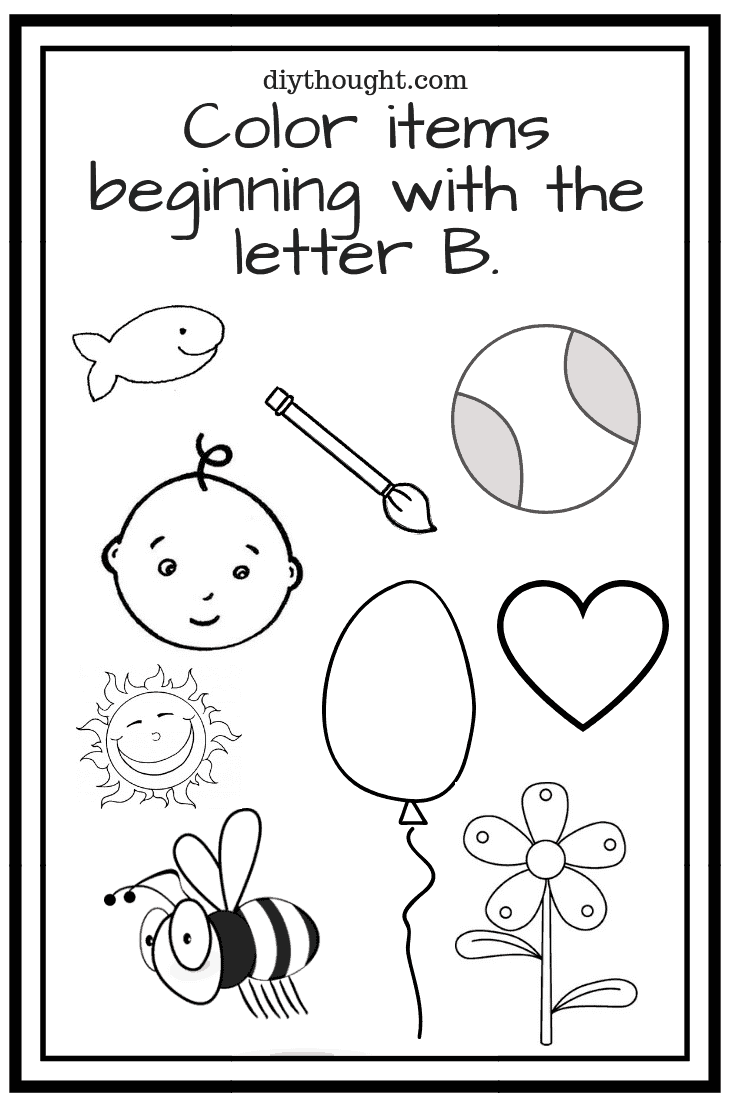 5 Letter B Preschool Printables Diy Thought
