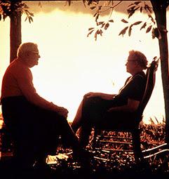 Senior's couple talking