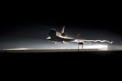 Shuttle landing from NASA
