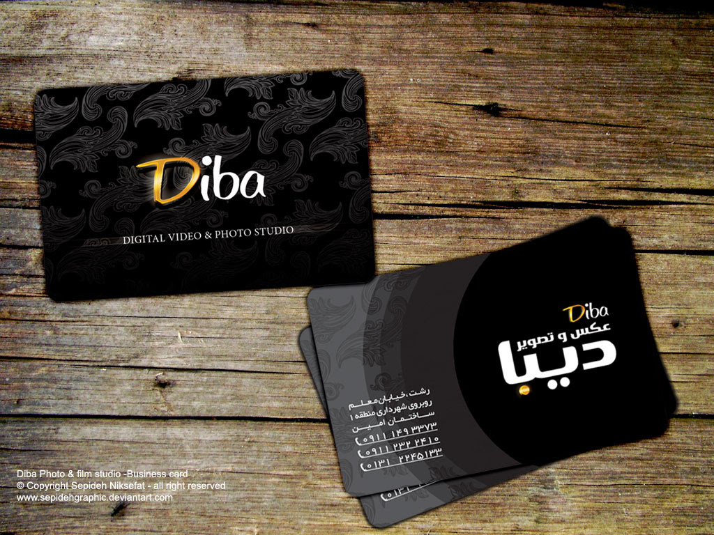 Diba Photography Business Card