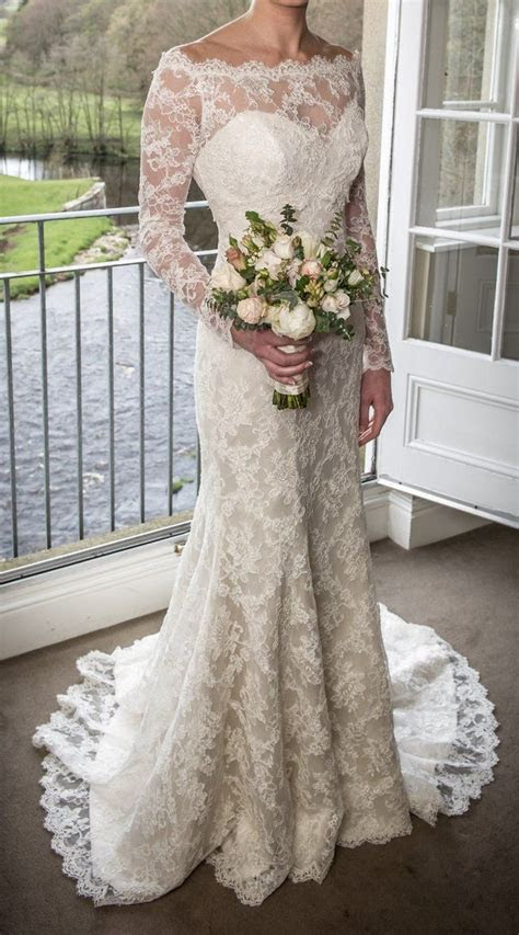 preloved suzanne neville hepburn wedding dress lace
