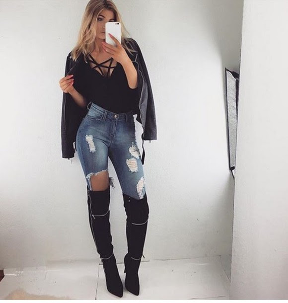jeans outfit outfit idea summer outfits fall outfits