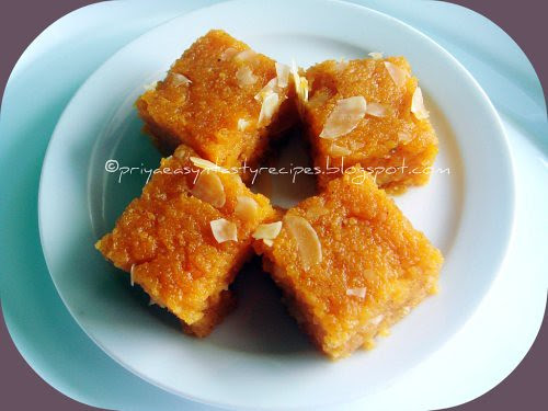 Wheat flour halwa