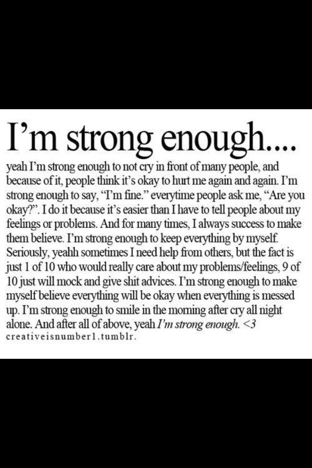 Pictures Of I Am Strong Enough Quotes Kidskunstinfo