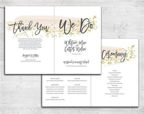 100  ideas to try about Bi Fold Wedding Programs   Modern