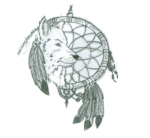 Pin By Pat M On Indian Wolf Dreamcatcher Tattoo Tattoos Wolf