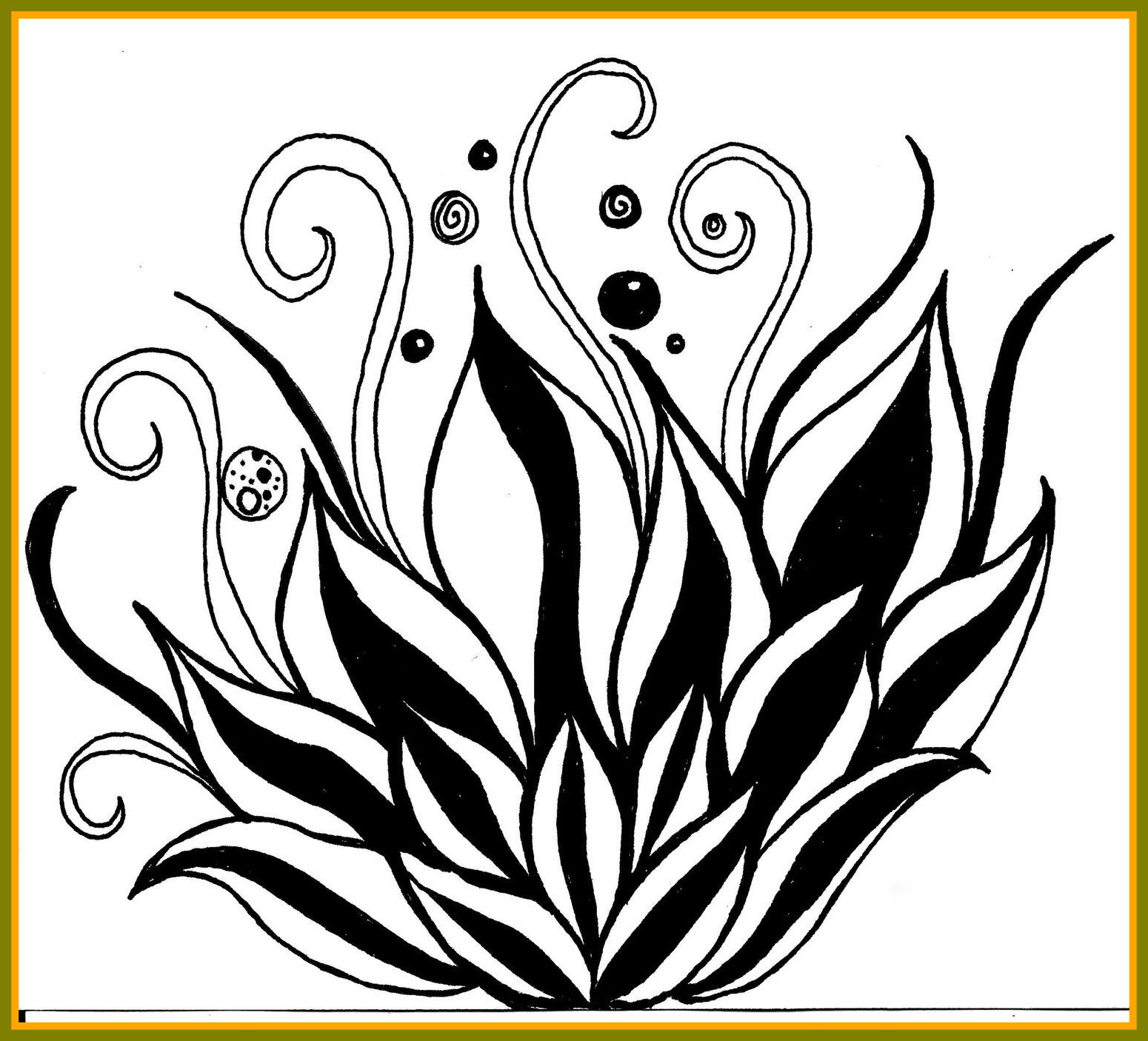 Lotus Flower Black And White Drawing At Getdrawingscom Free For