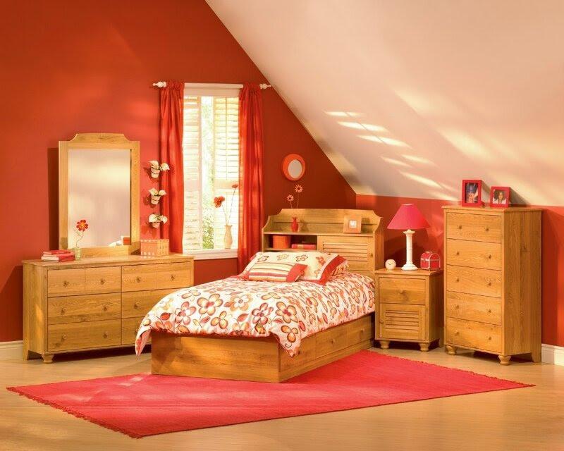 wooden kids bedroom design pictures