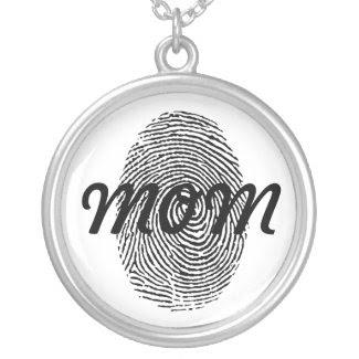 Fingerprint Square Keepsake Pendant zazzle_necklace