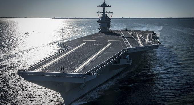Porta-aviões da marinha dos EUA apresenta falhas críticas em apenas 2 anos em serviço