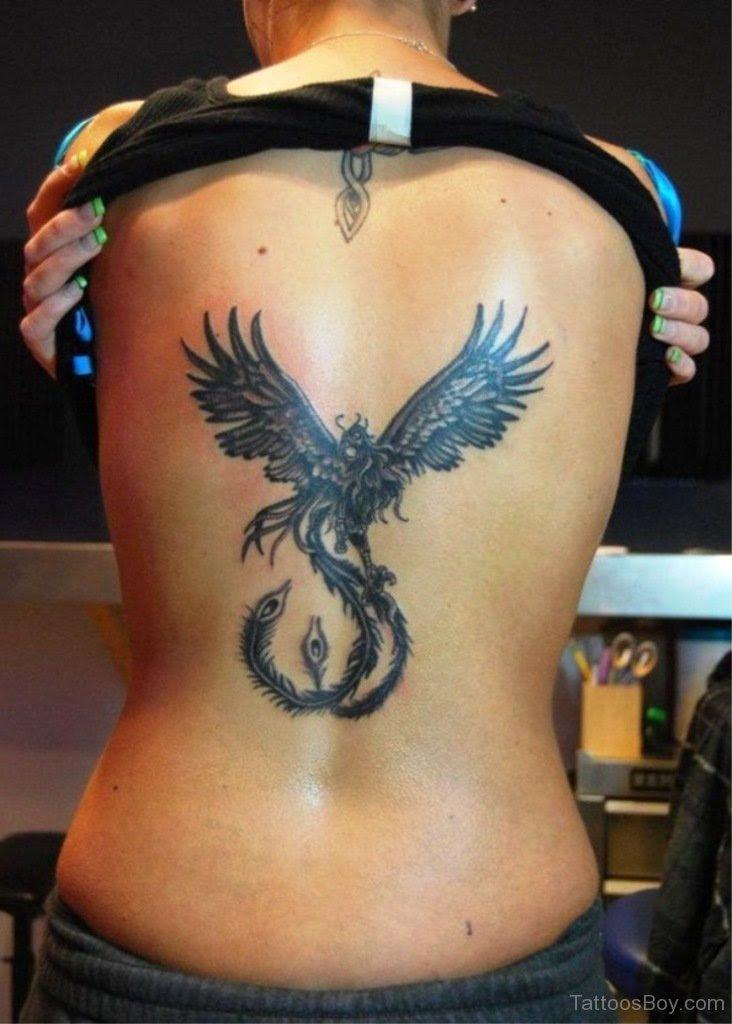 Simple Phoenix Tattoo On Back Tattoo Designs Tattoo Pictures