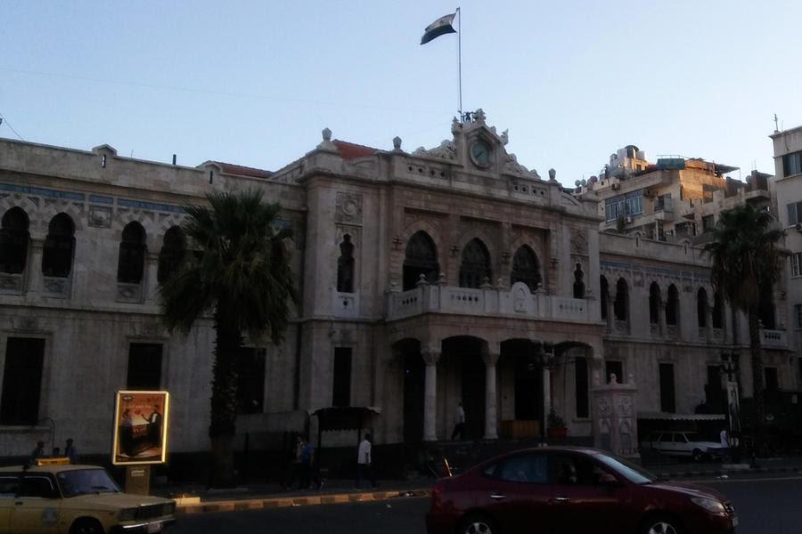 Antigua estación terminal del Ferrocarril Hijaz de Damasco a la Medina, en el centro de la capital siria (Foto: Pablo Sapag M.)