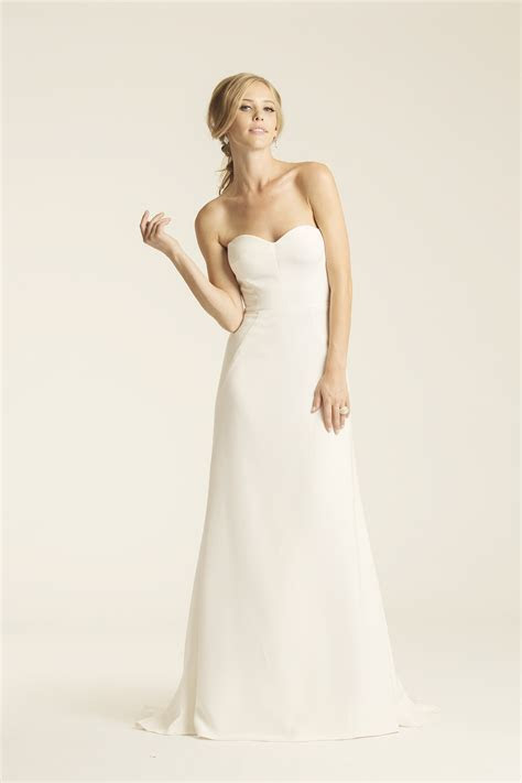 Silk Crepe,Strapless, Sweetheart,A Line   Turlington   Amy