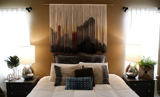 Image result for textile wall art over a window