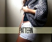 Granny Square Shrug Crochet Pattern, Chunky Crochet Shrug Pattern, Crochet Cardigan Pattern, Beginner Crochet Pattern, Sweater Pattern