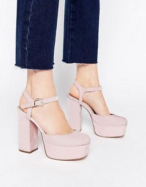 Zapatos de tacón alto estilo años 70 PROFILE de ASOS
