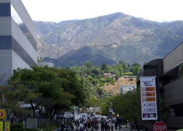 A photo that I took of the San Gabriel Mountains from NASA's Jet Propulsion Laboratory near Pasadena, on May 15, 2011.