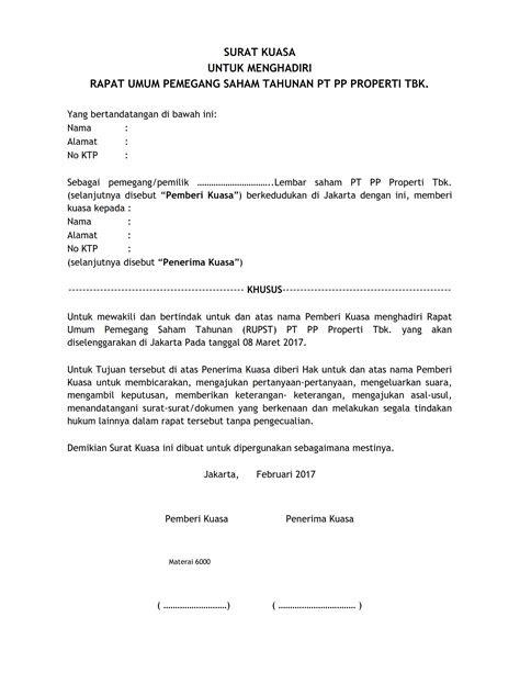 Contoh Surat Kuasa Khusus Ptun Pdf - Contoh Seputar Surat