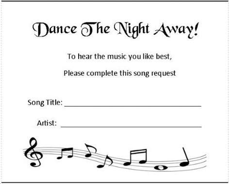 Music Request Cards