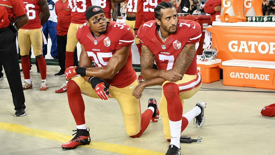 Image result for colin kaepernick and eric reid at us open