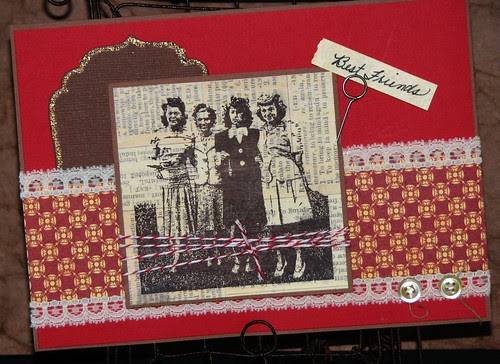 Ink Stained Roni's Stamps - Gossip Girls 004