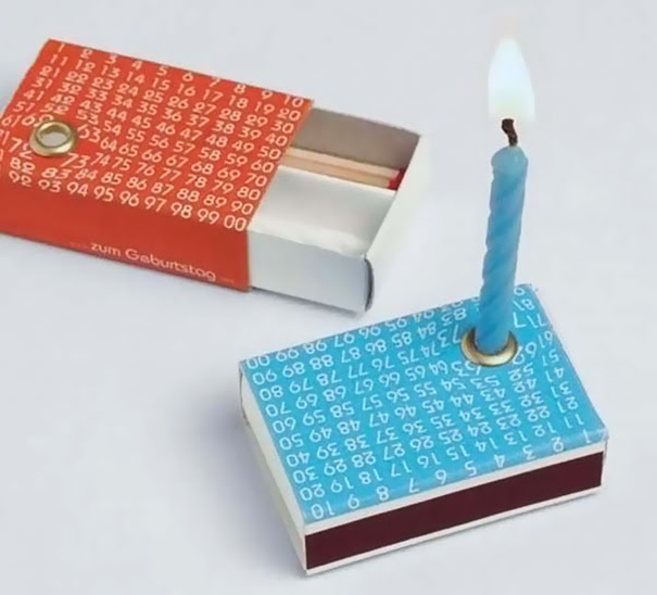 Tiny Candle With A Matchbox