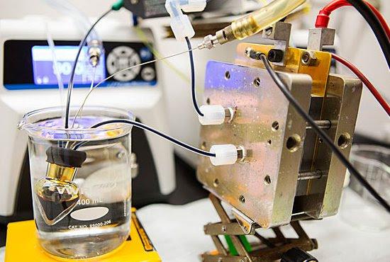 Armazenar o vento: Bateria Orgânica com Água