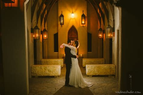 chapel dulcinea wedding  night time wedding