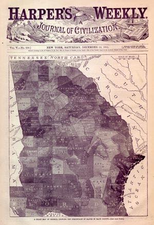 Georgia Slave Map