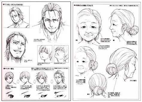 draw manga characters facial expressions drawing