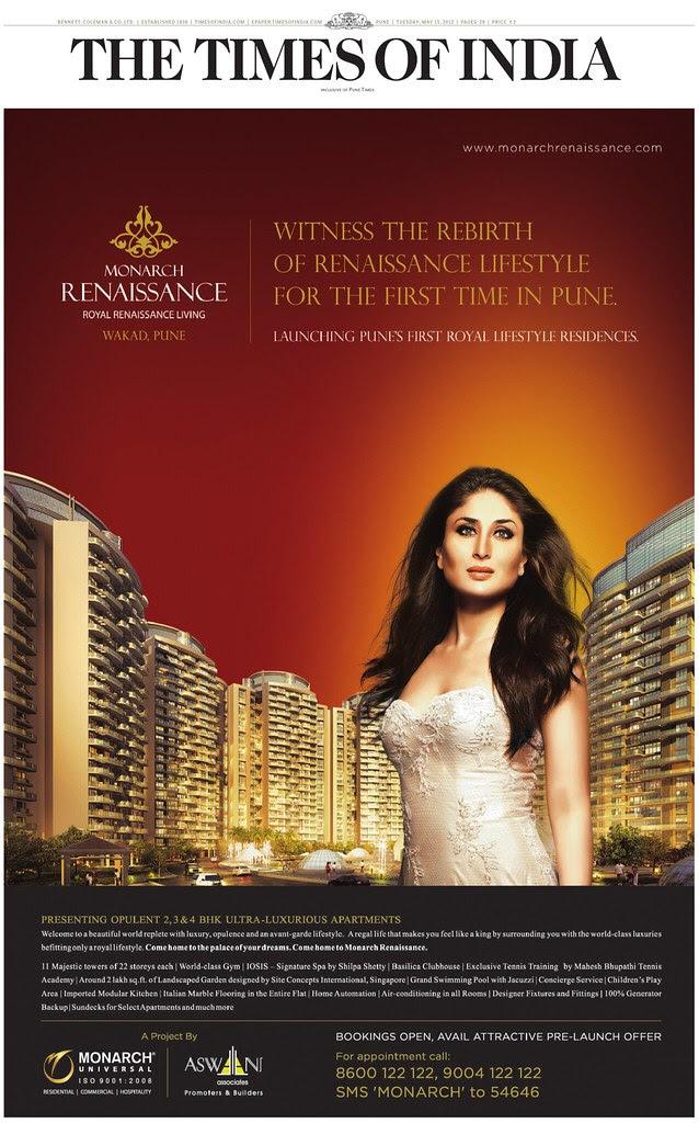 Monarch Renaissance - 2 BHK 3 BHK 4 BHK Flats - 22 Story 11 Towers - behind Sayaji Hotel - off Mumbai Bangalore Highway - Wakad - Pune 411057